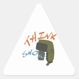 Think Ushanka Triangle Sticker