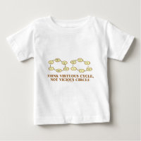 Think Virtuous Cycle, Not Vicious Circle (Econ) Infant T-shirt