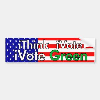 Think Vote Green Car Bumper Sticker