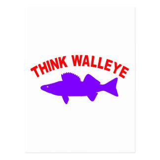 THINK WALLEYE POSTCARD
