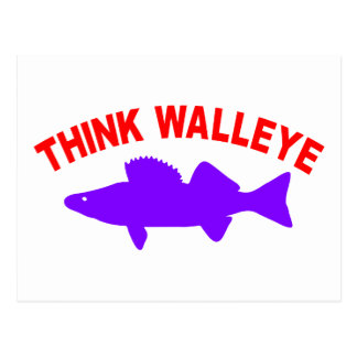 THINK WALLEYE POSTCARD