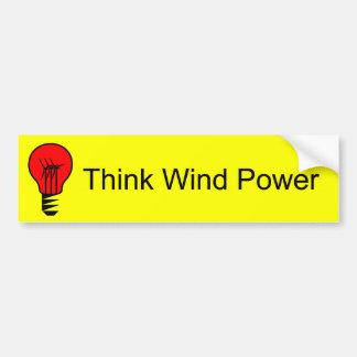 Think Wind Power Car Bumper Sticker
