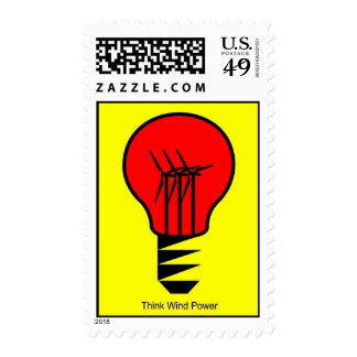 Think Wind Power Postage