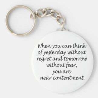 Think Without Regret And Fear Keychain