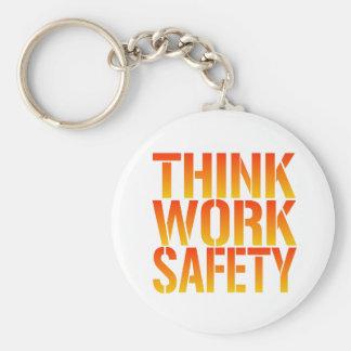 Think Work Safety Keychain