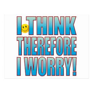 Think Worry Life B Postcard