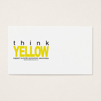 Think YELLOW Suicide Prevention Business Card