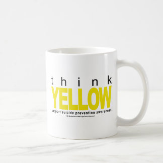 Think YELLOW Suicide Prevention Coffee Mug