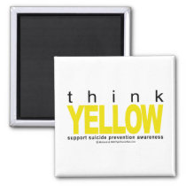 Think YELLOW Suicide Prevention Magnet