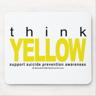 Think YELLOW Suicide Prevention Mouse Pad