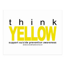 Think YELLOW Suicide Prevention Postcard
