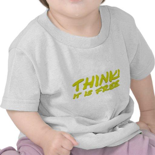 Think (yellow) t-shirt