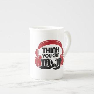 Think You Can DJ china mug, Left handed Tea Cup