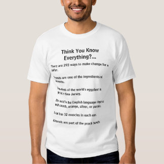 Think you know everything fun fact tee front/back