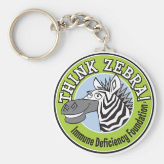 THINK ZEBRA Key Chain