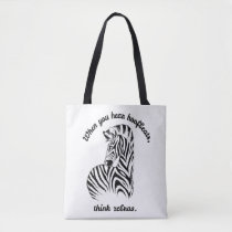 Think Zebras/RSD/CRPS Orange Roses Tote Bag