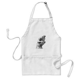 thinker adult apron
