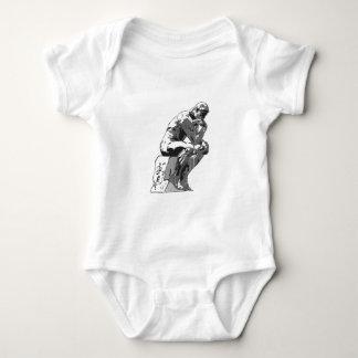 thinker baby bodysuit