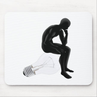 Thinker looking for an idea mouse mats