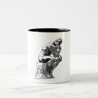 thinker Two-Tone coffee mug