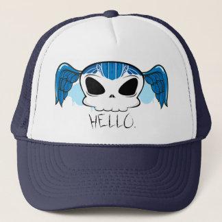 "Thinker on ""Hello"". Trucker Hat"