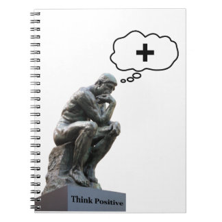Thinker Statue - Think Positive Notebook