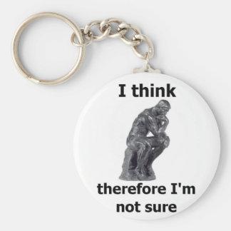 ThinkerWare Basic Round Button Keychain