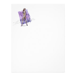 Thinkin of you Laurie Personalized Letterhead