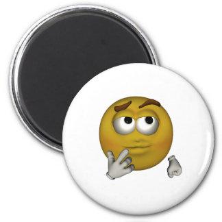 Thinking 2 Inch Round Magnet