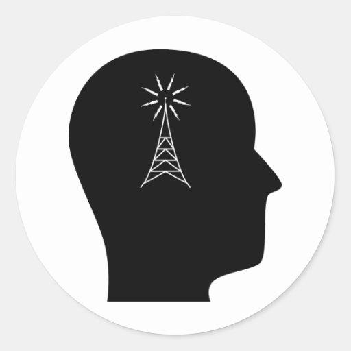 Thinking About Amateur Radio Round Sticker