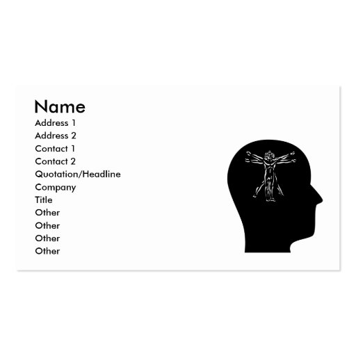 Thinking About Anthropology Business Card Template
