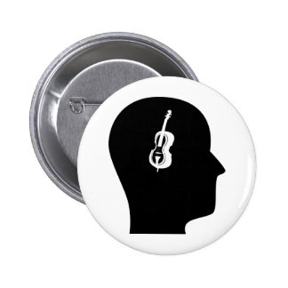 Thinking About Bass 2 Inch Round Button