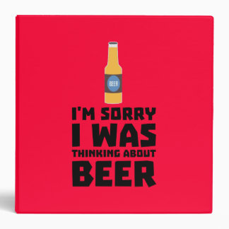 Thinking about Beer bottle Z860x 3 Ring Binder