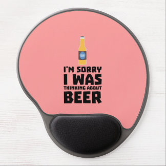 Thinking about Beer bottle Z860x Gel Mouse Pad