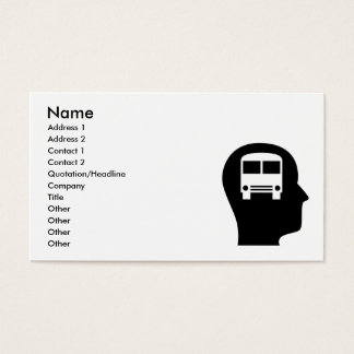 Thinking About Bus Driving Business Card