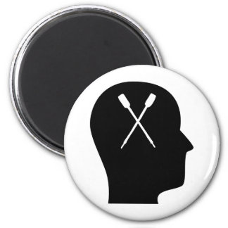 Thinking About Canoeing 2 Inch Round Magnet