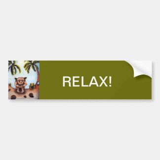 Thinking About Coconuts Car Bumper Sticker