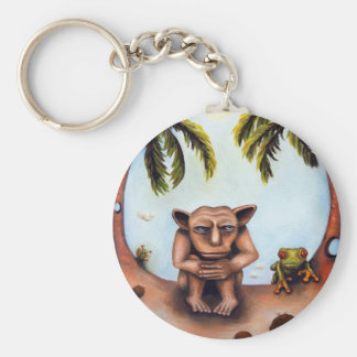 Thinking About Coconuts Keychain