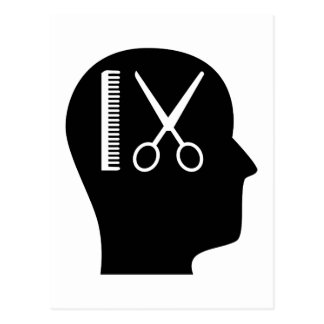 Thinking About Cutting Hair Postcard