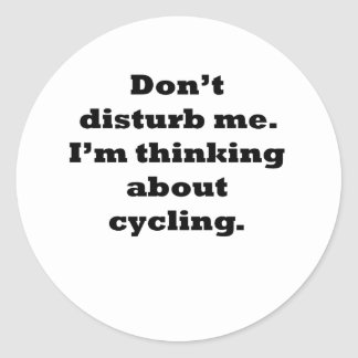 Thinking About Cycling Sticker