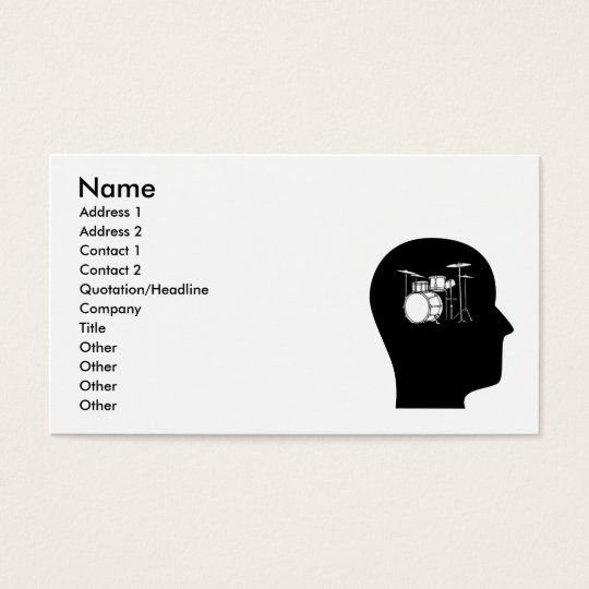 Thinking About Drums Business Card