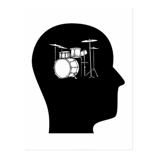 Thinking About Drums Postcard