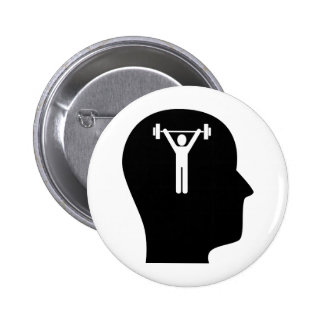 Thinking About Exercise Pinback Button