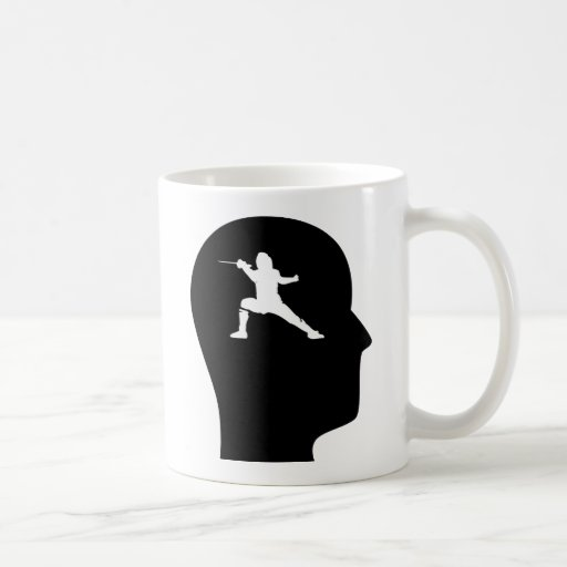 Thinking About Fencing Classic White Coffee Mug