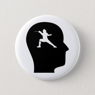 Thinking About Fencing Pinback Button