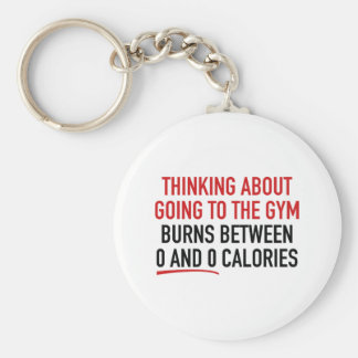 Thinking About Going To The Gym Keychain
