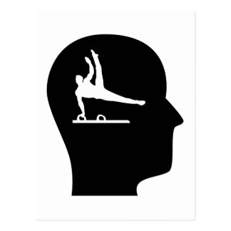 Thinking About Gymnastics Postcard