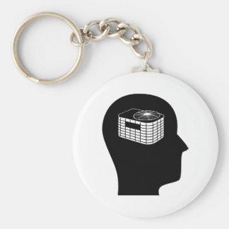 Thinking About HVAC Basic Round Button Keychain