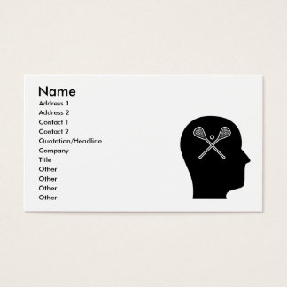 Thinking About Lacrosse Business Card