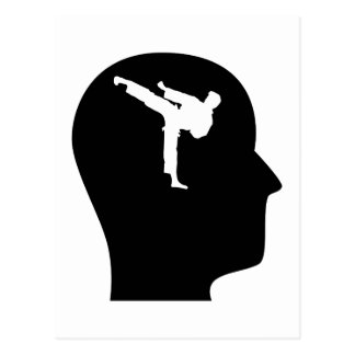 Thinking About Martial Arts Postcard